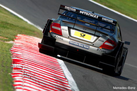 DTM Mercedes on a rumble strip